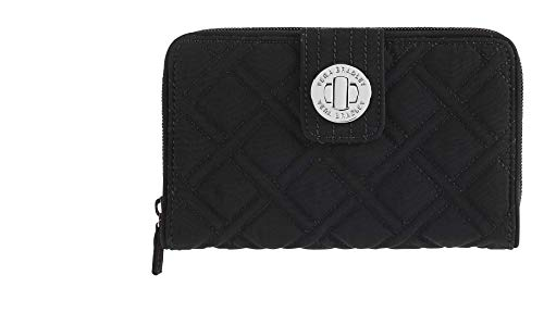 (Vera Bradley Turnlock Wallet, Classic Black, One Size)