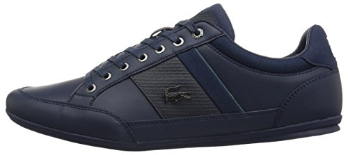 Lacoste Men's Chaymon Sneakers,Nvy/Green Synthetic,7.5 M US