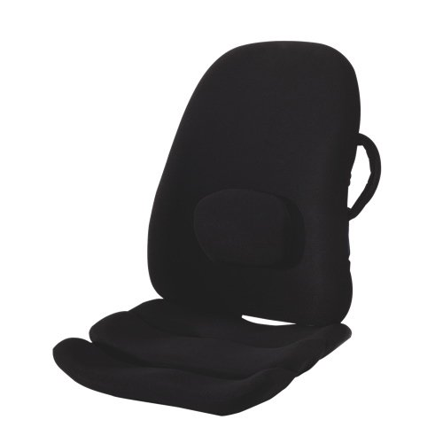 Obusforme Ultimate Ergonomic Seating Combo, Obus Lowback Backrest & Ergonomic Seat Cushion and Positioner, Pain Relief, Comfortable, For Travel & Home/Office/Car/Seat, Sciatica & Muscle Ache Relief