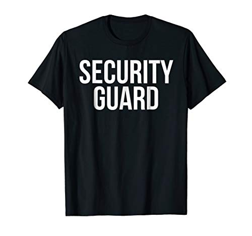 Security Guard Shirt Funny Halloween Costume Tshirt -