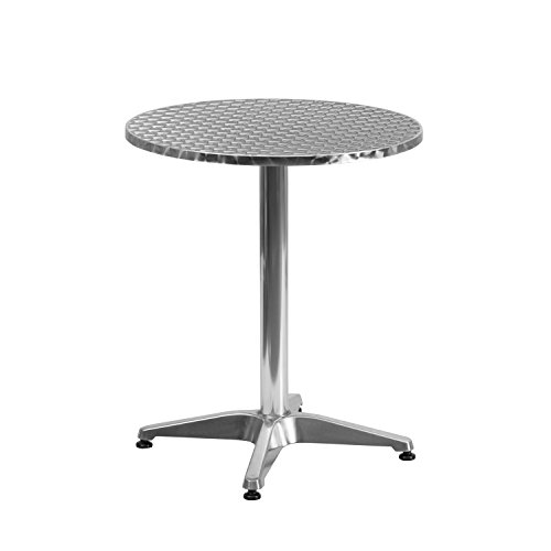 (Flash Furniture 23.5'' Round Aluminum Indoor-Outdoor Table with Base - TLH-052-1-GG)