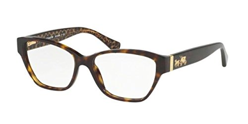 Coach Women's HC6088 Eyeglasses Dark Tort/Dark Tort Gold Sig C 52mm by Coach