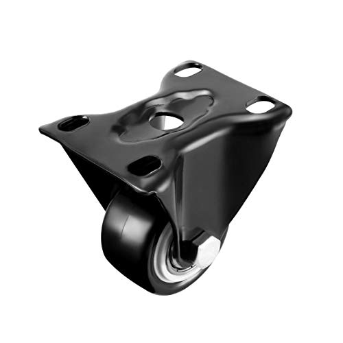uxcell Fixed Casters 2 Inch PU Top Plate Mounted Rigid Caster Wheels, 396lb Total Load Capacity, Pack of 4