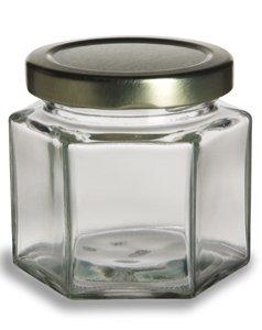 Honey Jar Wedding Favors (Nakpunar® 12 pcs , 4 oz Hexagon Glass Jars for Jam, Honey, Wedding Favors, Shower Favors, Baby Foods, DIY Magnetic Spice)