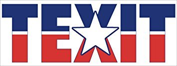 MAGNET TEXIT Magnetic Magnet(texas secede flag texan tx exit) Size: 3 x 8 inch - Exit Flag