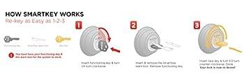 Kwikset 991 Juno Entry Knob & Single Cylinder Deadbolt Combo Pack Featuring Smartkey In Satin Nickel 1