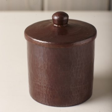 Native Trails Medium Cotton Ball and Swab Holder, Antique Copper Finish, 4-inches by Native Trails (Image #2)
