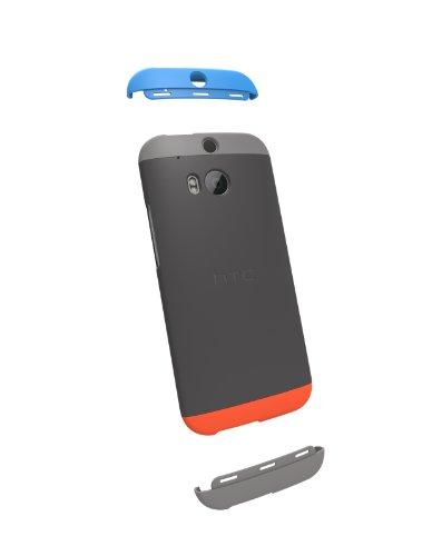 HTC Double Dip Case for HTC One (M8) - Retail Packaging - Grey/Smoke Grey/Orange