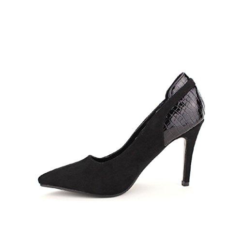Femme Noir Creations Bi Escarpin Chaussures Cendriyon Matière pv6wY