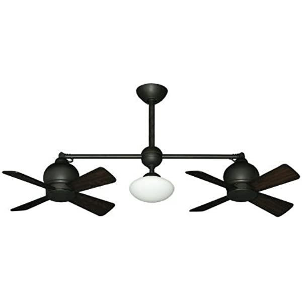 Metropolitan Modern Double Ceiling Fan In Oil Rubbed Bronze With Light Remote Pool Table Light Amazon Com