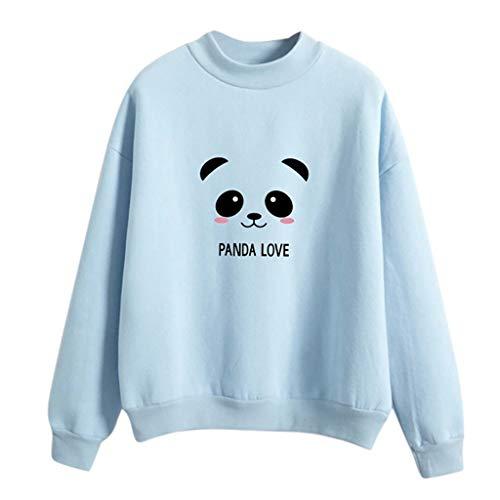 Para Panda Giulogre women Blue Tops Light Sudadera Mujer FWqZqrtv