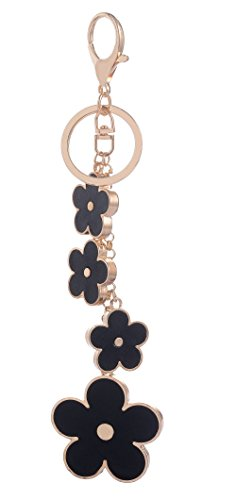 Giftale Womens Flower Bag Charms Enameled Keychain Purse Accessories,