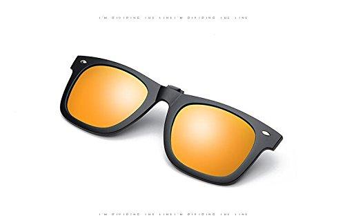 Gafas de Sol con Clip polarizado en la Tapa, Tukistore Gafas de Sol Clip de sujeción en Clip polarizado Gafas de Sol polarizadas Gafas de Sol con Tapa Clip contra luz para Damas para Hombre