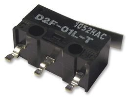 OMRON ELECTRONIC COMPONENTS D2F01LT Microswitch, SPDT, Solder, 100 mA, 30 VDC (5 pieces)