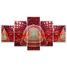KAMUNG HD Print 5 Pieces Tool Alex Grey Canvas Painting Living Room Decor Canvas Painting -