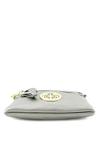 Emblem Bag Multi with Pewter Light Pocket Zipper Crossbody Wristlet Small 0qxHgRqZ