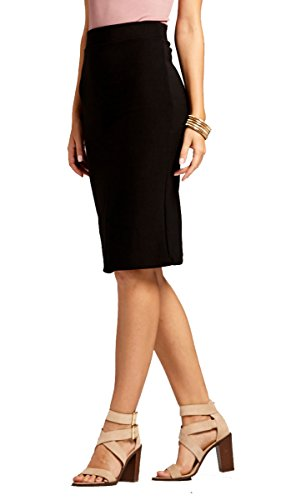Premium Stretch Pencil Skirt - 10 Colors - by Conceited (Large, Black)
