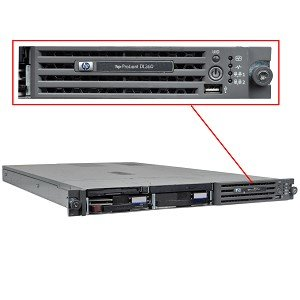 HP ProLiant DL360 G4 Xeon 3.0GHz 2GB 72GB 10K SCSI FDD DVD 1U Server w/Video & Dual Gigabit LAN - No Operating ()