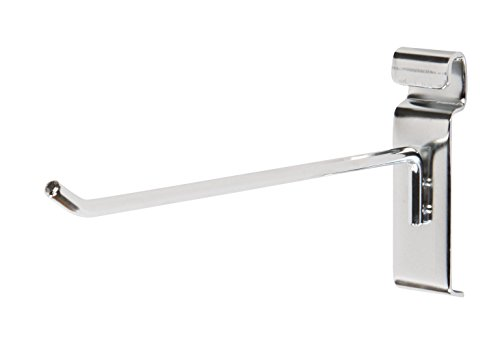 8'' Wire Grid and Grid Wall Hooks - Chrome - Pack of 50 by SSW Basics LLC