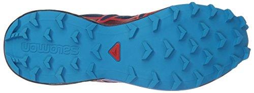 Salomon Herren Speedcross 4 Trekking-& Wanderhalbschuhe blau (Poseidon/Hawaiian Surf/Fiery Red 000)