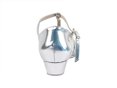 Scarpe Da Ballo Da Donna Scarpe Da Ballo Salsa Latino 6006fteb Comodo-molto Fine 1 [fascio Di 5] Argento Scintillante E Argento Pu