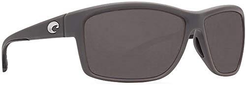 Costa Del Mar Mag Bay Sunglasses, Matte Gray, Gray 580P Lens (580p Costa Del Mar)