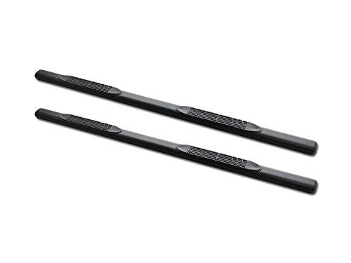 "AutobotUSA Heavy Duty 4"" Oval Matte Black Finishd Side Step Nerf Bars Running Boards for Chevy Silverado / GMC Sierra 1500/1500HD/2500/2500HD/3500/3500HD Crew Cab 2001-2014 Side Bars"