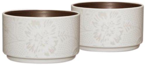 Noritake Colorwave Bloom Stacking Bowl, Chocolate Brown, Set of 2