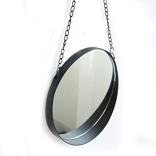 - Hanging Mirror, Round Vintage Wall Mirror Modern Metal Framed Mirror Decorative Hanging Vanity Mirror for Bedroom Bathroom and Living Room Makeup Mirror (Size : 203cm)