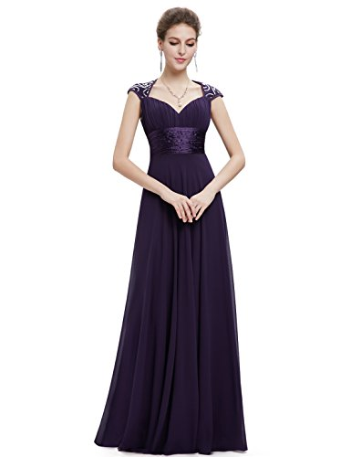 Ever-Pretty Womens Sleeveless V Neck Open Back Long Evening Gown 14 US Purple by Ever-Pretty (Image #1)