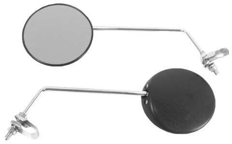 Emgo Universal Clamp-On Mirror - Round, for 7/8in. Handlebars Both 20-64510