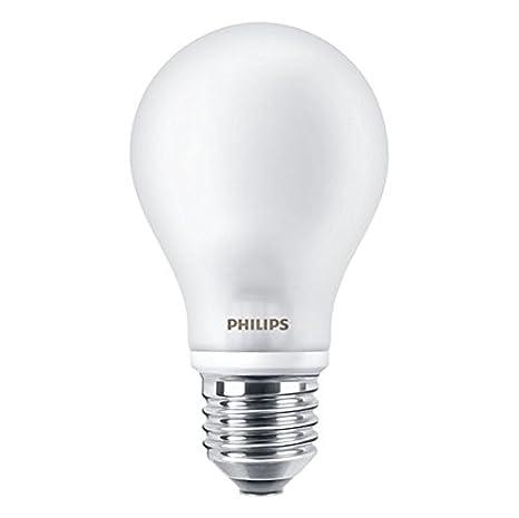 Philips Estã¡Ndar 8718696419656 Bombilla LED de luz cálida, 5 W (40 W), Casquillo E27, Blanco, 1 unidad, 5578: Amazon.es: Iluminación