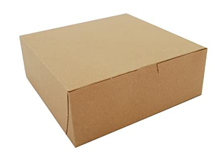 "Southern Champion Tray 0937K Kraft Paperboard Non Window Lock Corner Bakery Box, 8"" Length"