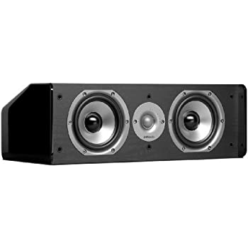 Polk Audio CS10 Center Channel Speaker (Single, Black)