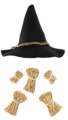 Nicky Bigs Novelties Scarecrow Costume Kit, One Size Black/Brown -