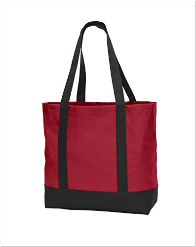 Port Authority Day Tote. BG406 Chili Red/ Black One Size by Port Authority (Image #1)