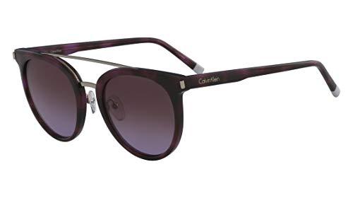 Óculos Ck Ck4352S 528 Tartaruga Roxo Lente Roxo Flash Degradê Tam 53