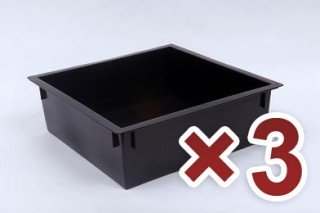 3 stackable trays for use with Worm Factory standard model and Worm Factory 360. - Standard Stackable