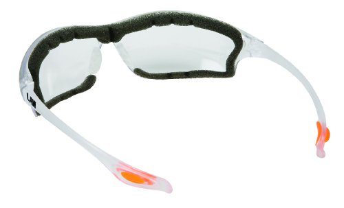Crews LW310AF Law 3 Clear Anti-Fog Lens Safety Glasses with Bayonet Temple, 1 Pair