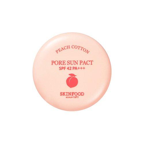 [Skin Food] Peach Cotton Pore Sun Pact SPF42 PA+++ 9g #01 Clear