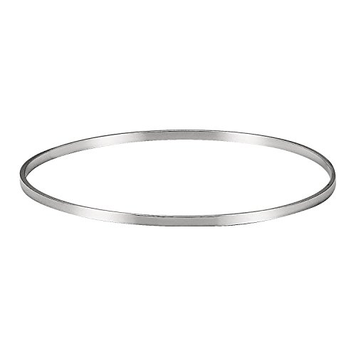 Women's 925 Solid Silver Classic Hoop Bangle Bracelets - 8