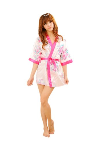Attractive Japanese Night Flower Robe