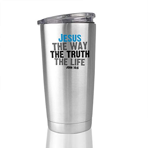 20oz Stainless Steel Tumbler The Way The Truth The Life Jesus 1 Vacuum Insulated Coffee Mug]()