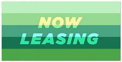 CGSignLab Now Leasing 5-Pack 24x12 Modern Gradient Window Cling