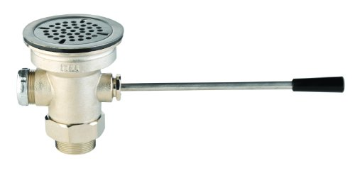 T&S Brass B-3962 Waste Drain Valve with Lever Handle, 3-Inch X 2-Inch