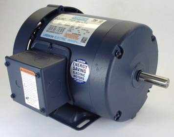 - 1hp 3450RPM 56 Frame 208-230/460 Volts TEFC Leeson Electric Motor # 110145