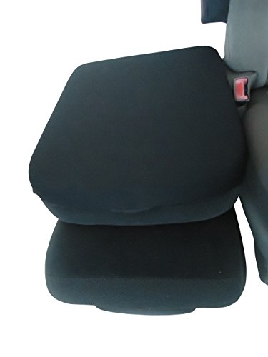 Car Console Covers Plus Made in USA Neoprene Center Armrest Console Cover fits Dodge Ram 1500 2500 3500 Series 2007 Black