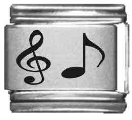 Music Note Laser Italian Charm