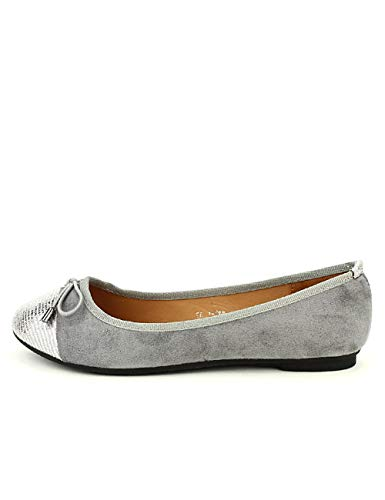 Chaussures Grise Alisa Ballerine Femme Cendriyon AqHT7wHx