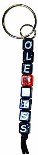 NCAA Ole Miss Rebels Beaded Keychain, Small by Game Day Outfitters